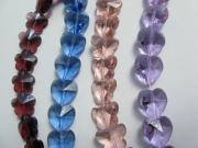 カットガラスの三種四色